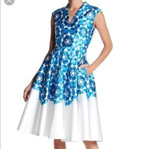 TED BAKER LONDON NARISA BLUE BEAUTY DRESS